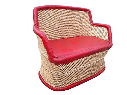 Patiostack Bamboo Vintage Rattan Wicker Sitting Sofa Chair