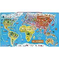 Janod Puzzle mapamundi magnético (018-015)