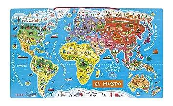 mapa mundi magnetico Janod Puzzle mapamundi magnético (018 015): Amazon.es: Juguetes y  mapa mundi magnetico