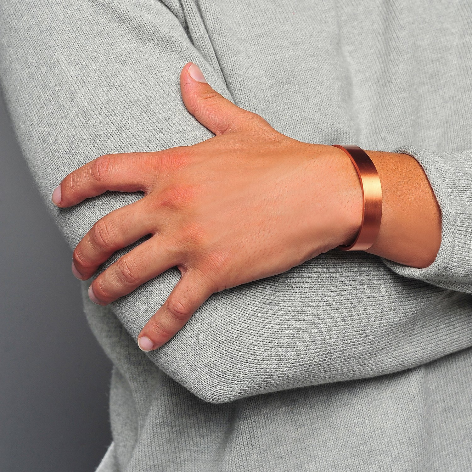 Sufferers wear copper jewelry in the hopes of easing symptoms - Amazon Com Pure Copper Magnetic Therapy Bracelet For Arthritis Rsi Carpal Tunnel Migraines Fatigue Health Personal Care