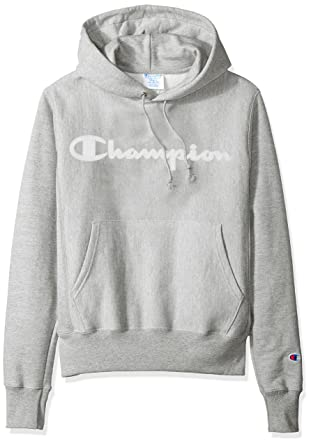 698549cf84c9 Amazon.com  Champion LIFE Men s Reverse Weave Script Pullover Hoodie   Clothing