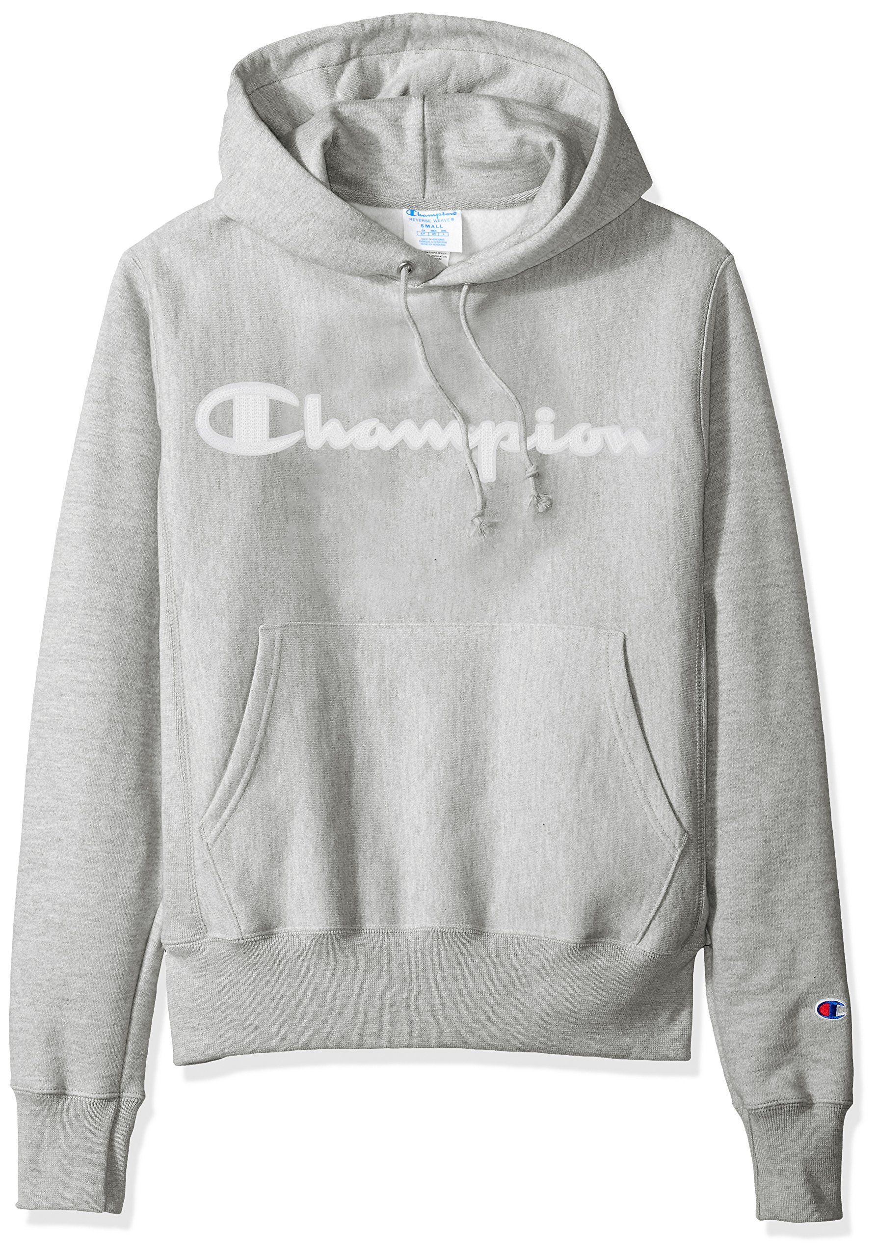 Gray Champion Men/'s Life Reverse Weave Pullover Chain Stitch Script Logo Hoodie