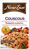 Near East Coucous Mix, Tomato Lentil (Pack of 12 Boxes)