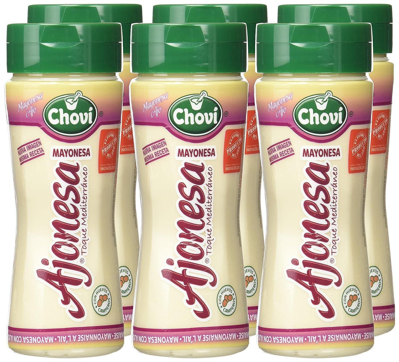 Chovi - Ajonesa - Mayonesa ajo - 250 ml - , Pack de 6: Amazon.es: Alimentación y bebidas