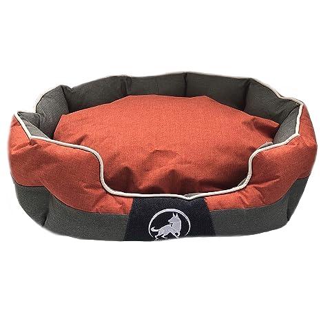 aquag Tipo Premium Cama para Perros Naranja, Robusto Perros Cojín Lavable, Antideslizante M Perro