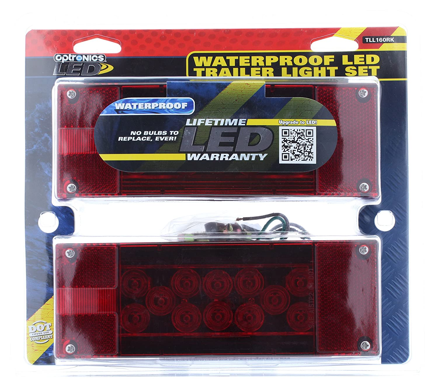 Optronics Tll160rk Red Led Combination Tail Light Kit Trailer Wiring Diagram Automotive