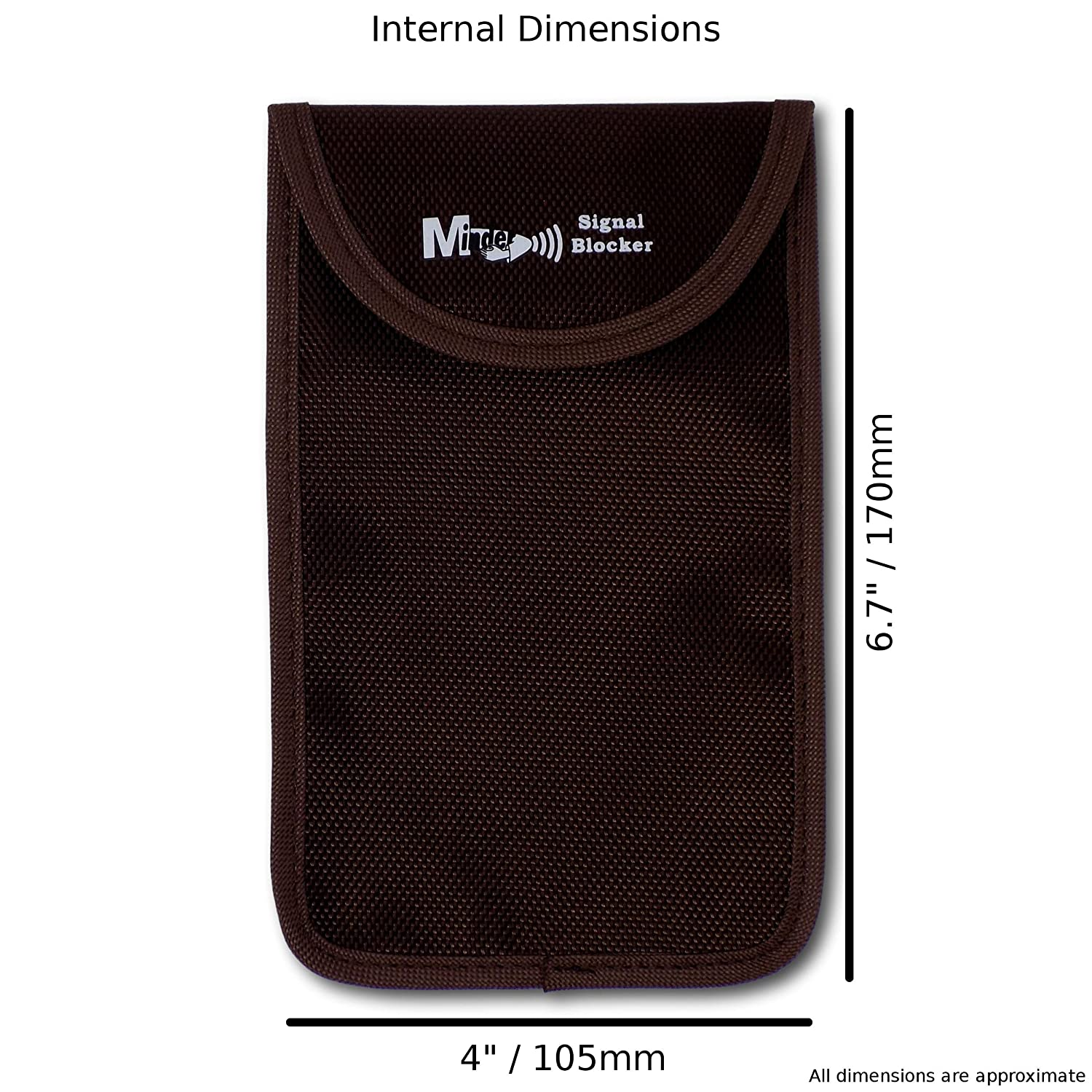 Signal Jamming Case with RFID Blocking Pouch for Keyless Entry//Start Car Keys and Mobile Phones Mini Brown Minder Signal Blocker Faraday Bag Protection Security for WIFI//GSM//LTE//NFC//RFID