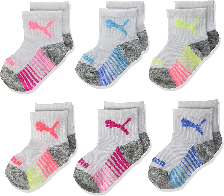 PUMA Baby Infant 6 Pack Anklet Socks