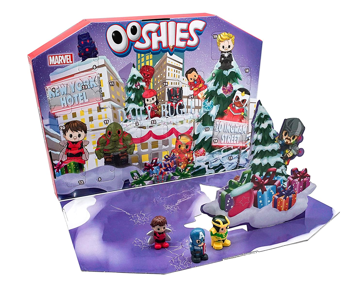 Ooshies 77170.0030 Marvel Advent Calendar, Multicolour Headstart