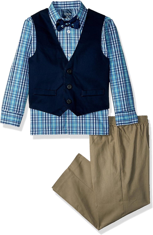 Pants Izod Boys 4-Piece Vest Set with Dress Shirt Bow Tie and Vest