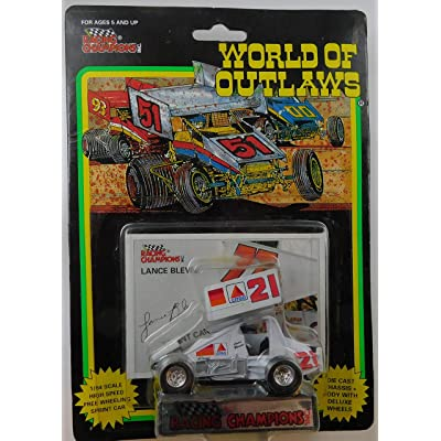 WORLD OF OUTLAWS Sprint Car Lance Blevins Series One 1:64 Scale die-cast Racer by Racing Champions: Toys & Games