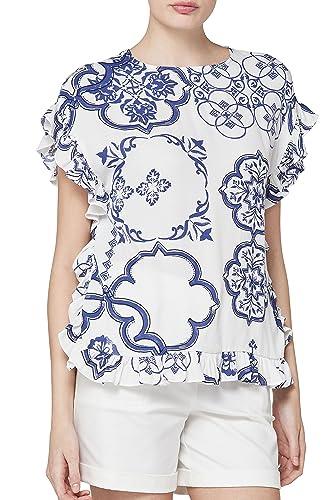 next Mujer Camiseta Volante Cuadrada Corte Regular Top Ropa