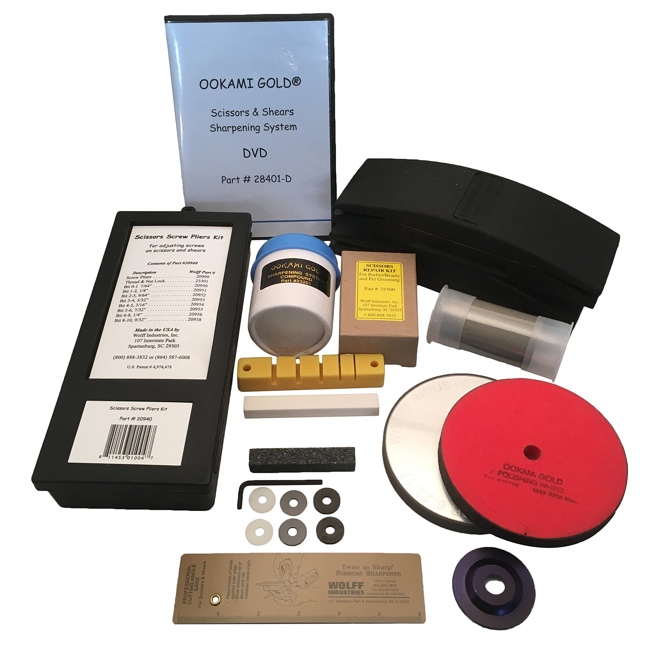 Wolff Ookami Upgrade Kit w/ Convexing Clamp - Professionally Sharpen Convex & Beveled Beauty Shears