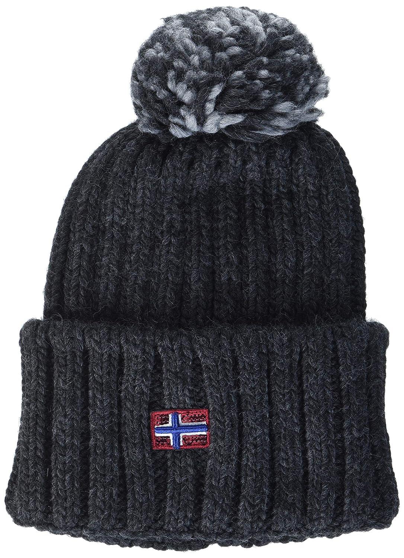 104bbd566a4eed Napapijri Women's Itang Hat Beanie, (Black 041), One (Size: D): Amazon.co.uk:  Clothing