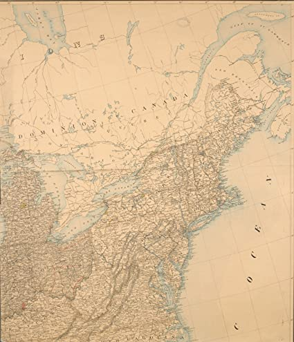 Amazon.com: Map Poster - Map of the U. S. and Territories...North ...