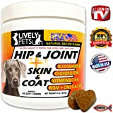 Lively Pets Hip and Joint + Skin and Coat Supplements for Dogs - Best Supplements for Dogs Joints and Dog Pain Relief/Pain Reliever; Glucosamine Chondroitin Dogs MSM for Dogs