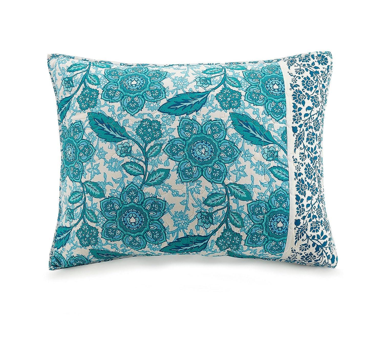 A024316BLNDE Jessica Simpson Aqua Flora Quilt Full//Queen Blue PEKING HANDICRAFT INC