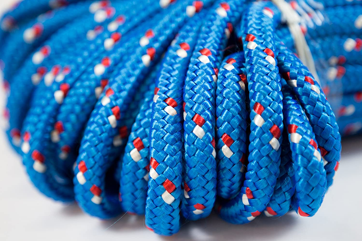 Amazon.com : Itacorda Eco-Friendly - Double Braided Rope - 1/2 inches - 150 feet - Blue - Outdoor activities : Sports & Outdoors