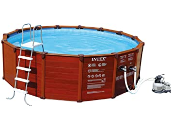 Intex Piscine Aspect Bois Sequoia Spirit X M Amazonfr - Piscine intex aspect bois