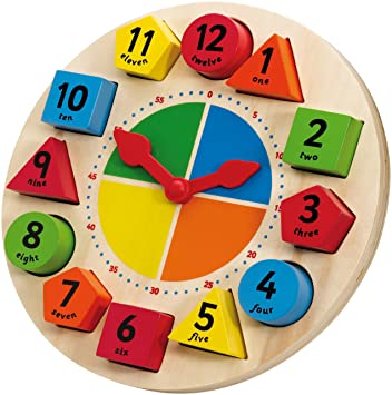 Tidlo Sorting and Teaching Clock: Amazon.co.uk: Toys & Games
