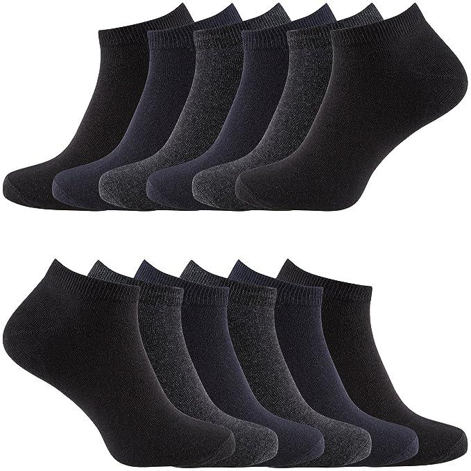 Charles Wilson 12 Pair Pack Essential Trainer Socks (Assorted Dark e6a6d8e55