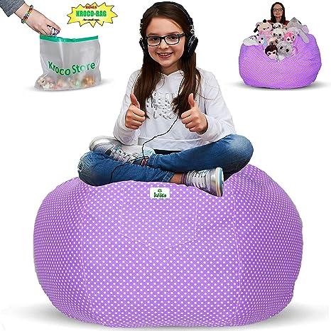 Amazon.com  Kroco Stuffed Animal Storage Bean Bag Chair  20eb4a82d1eaf