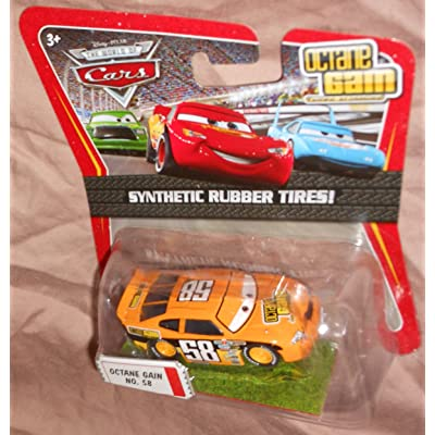 Disney / Pixar CARS Movie Exclusive 1:55 Die Cast Car with Synthentic Rubber Tires Octane Gain: Toys & Games