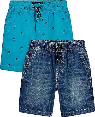 next Niños Pack De Dos Pantalones Cortos (3-16 Años) Corte Estándar Palmera/Denim 16 años: Amazon.es: Ropa y accesorios