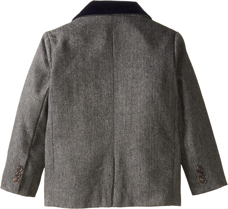 Andy /& Evan Little Boys Grey Herringbone Suit Set ST40136B-BKF