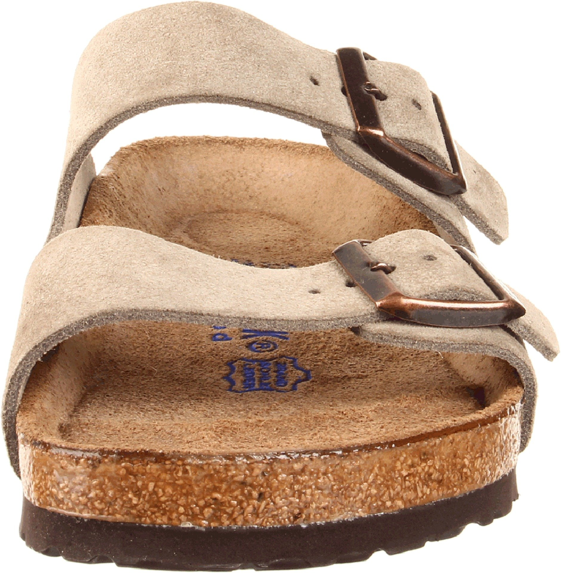 Birkenstock Unisex Arizona Taupe Suede Soft Foot Bed Sandals - 38 M EU / 7-7.5 B(M) US by Birkenstock (Image #4)