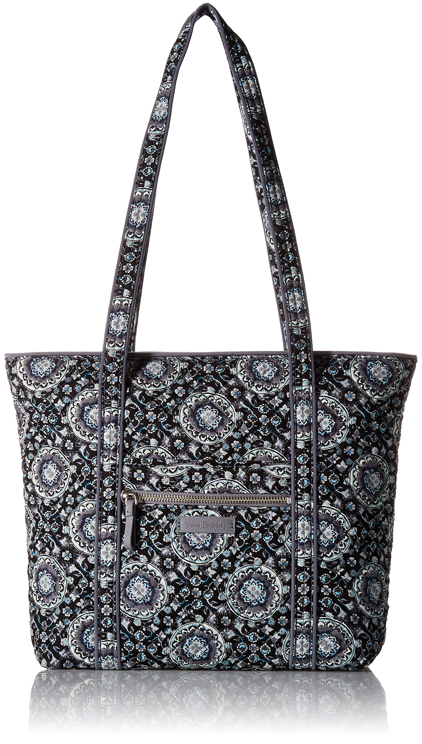 Vera Bradley Iconic Small Vera Tote, Signature Cotton, charcoal medallion
