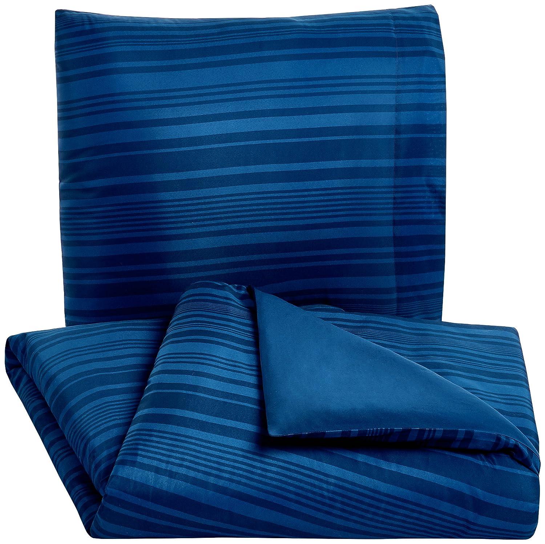 Dusty Blue Trellis 140 x 200 cm Basics Parure de lit avec housse de couette en microfibre Bleu