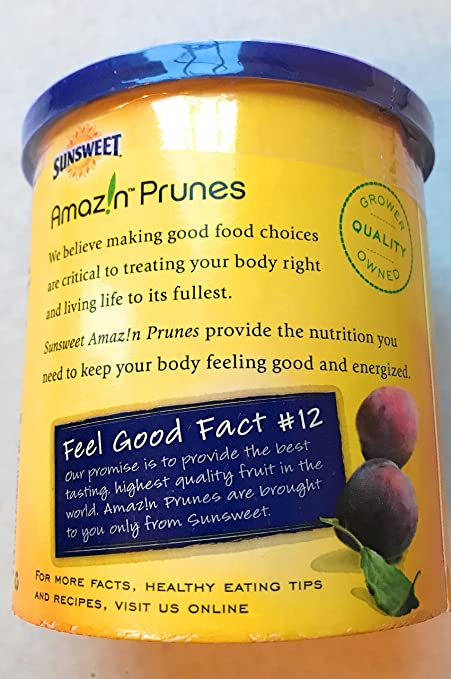 Sunsweet Amazin Prunes With Pits Breakfast Prunes 16 oz Container: Amazon.com: Grocery & Gourmet Food