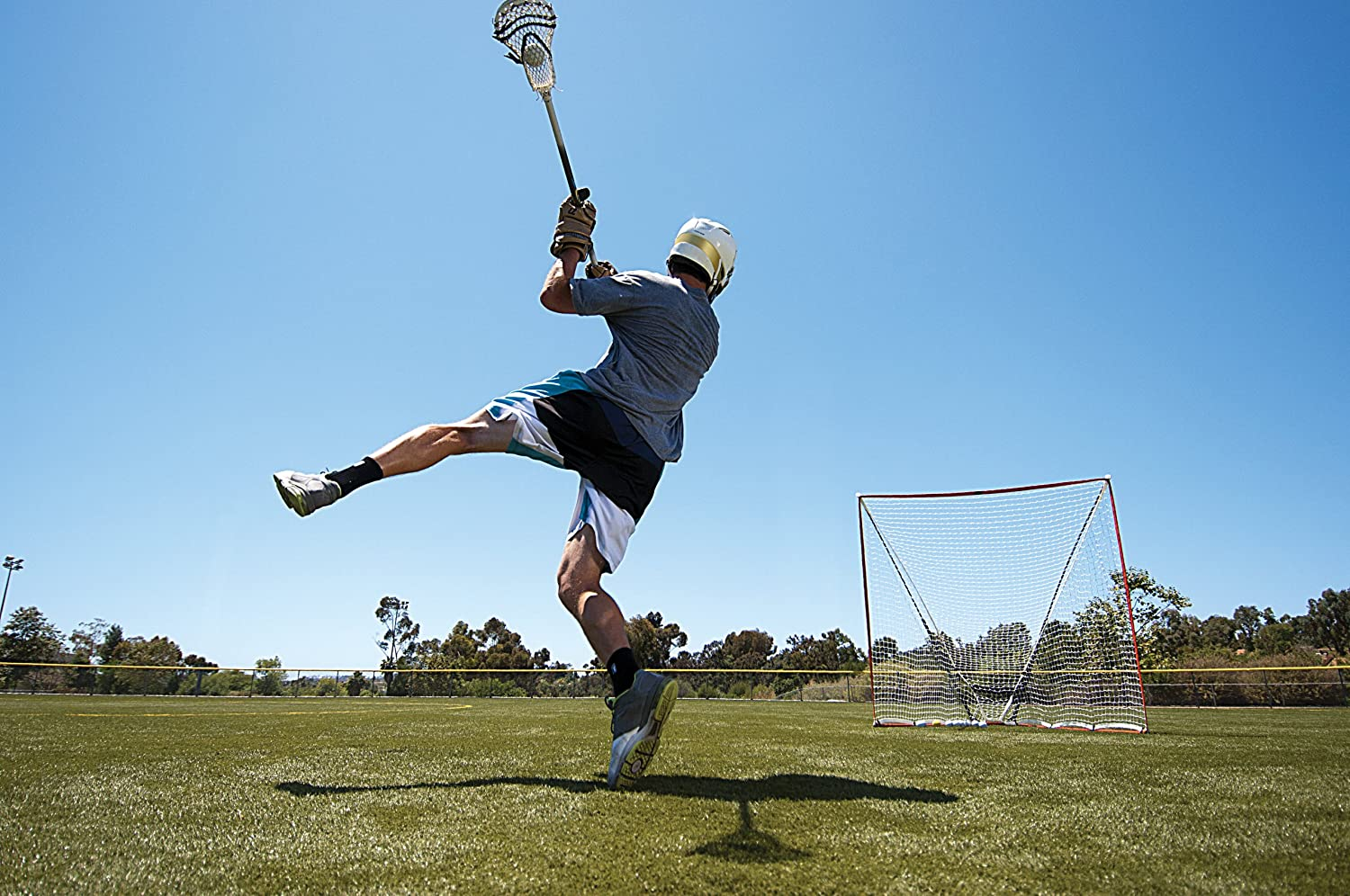 sklz quickster lacrosse goal with portable practice net goals