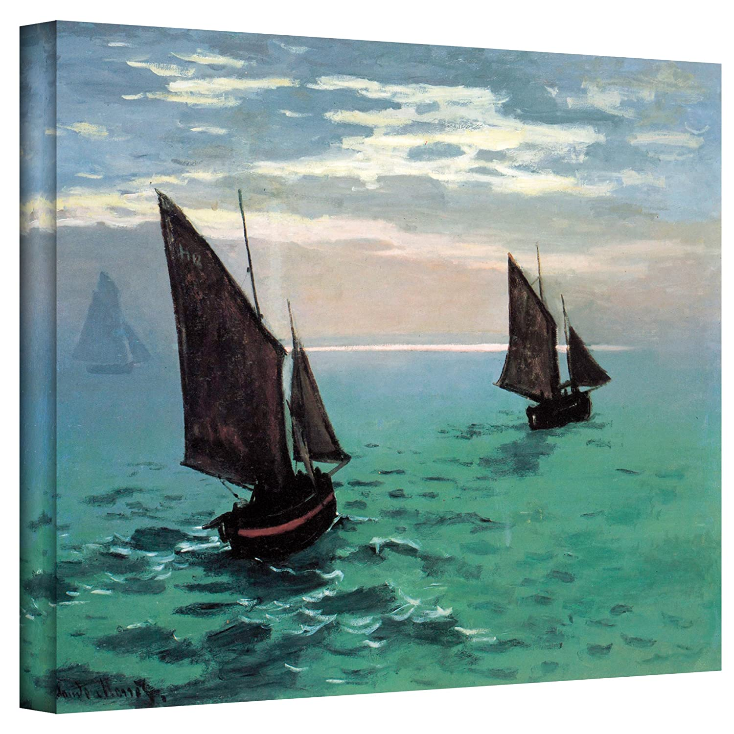 ArtWall Two Sailboats Gallery Wrapped Canvas by Claude Monet, 18 by 24-Inch The Art Wall Cmonet33-18x24-w