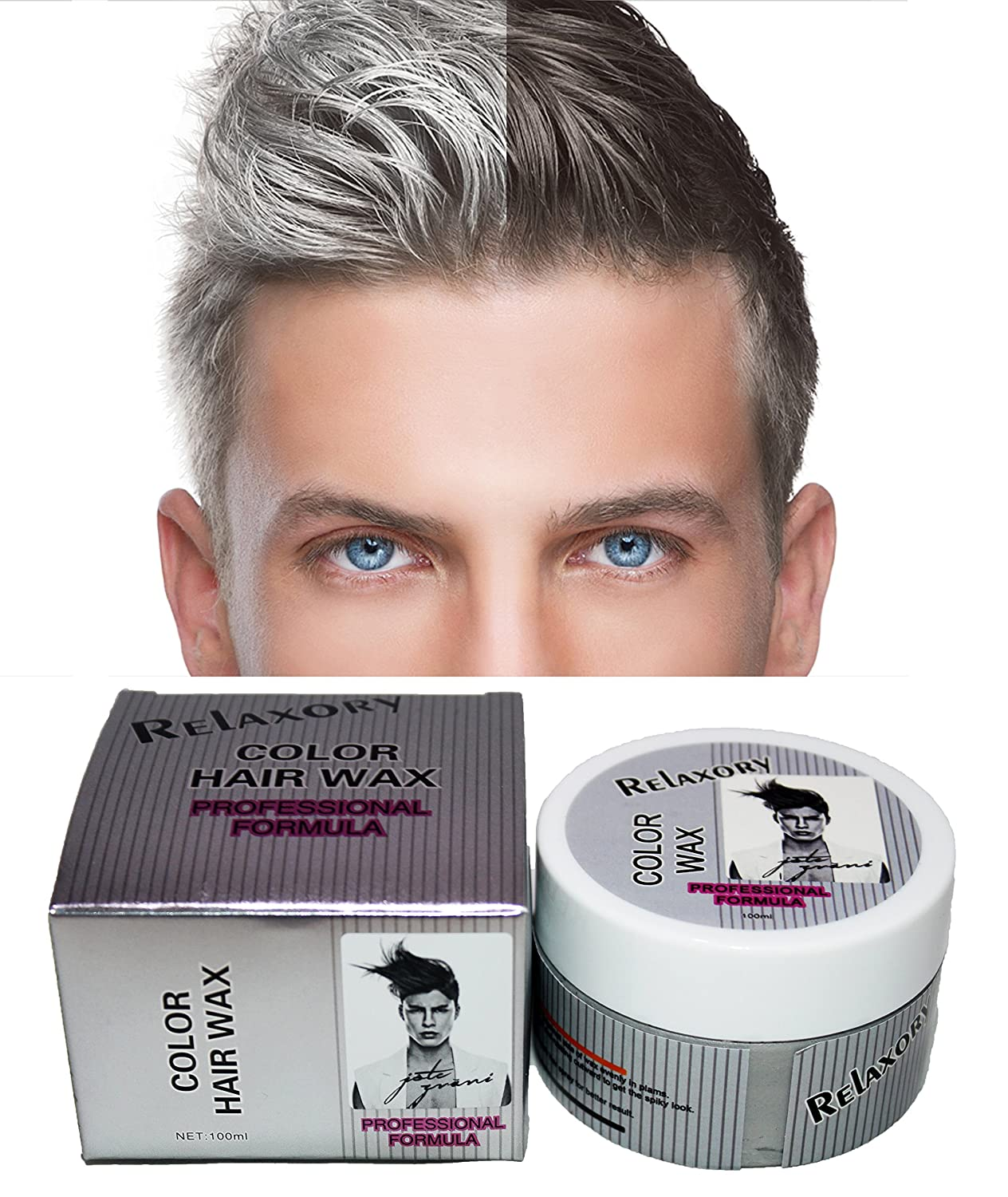 Amazon Relaxory Temporary Color Hair Wax Molding Clay Gery