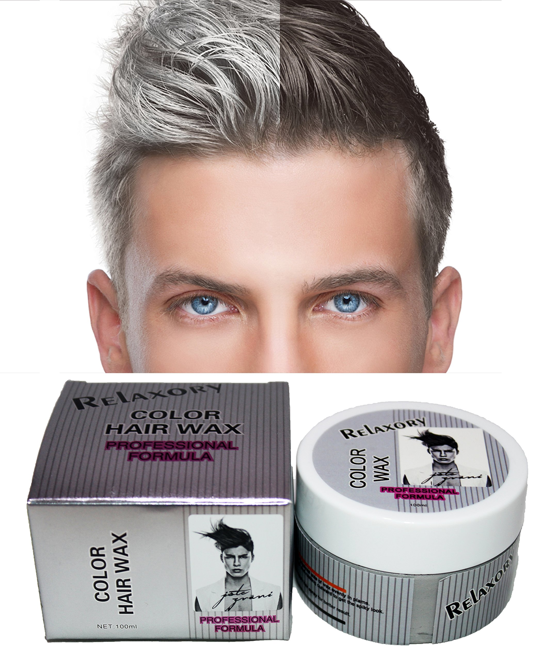 hair styling wax for men hair color styler wax 90ml silver ash 8473 | 91%2BSTxyjOnL