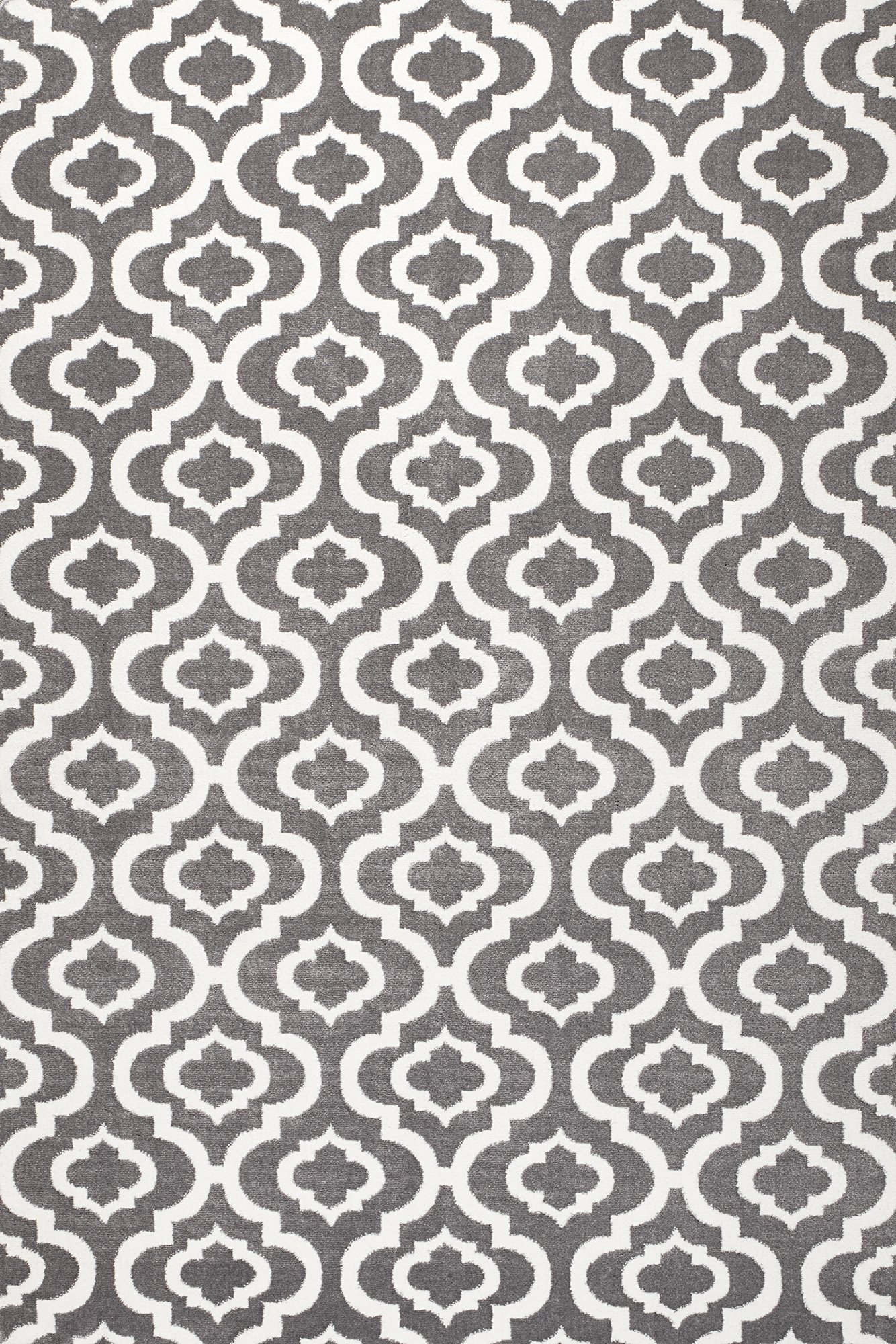 Summit S27 New Moroccan Gray Trellis Rug Modern Abstract Rug (22 Inch X 35 Inch Scatter Door MAT Size)