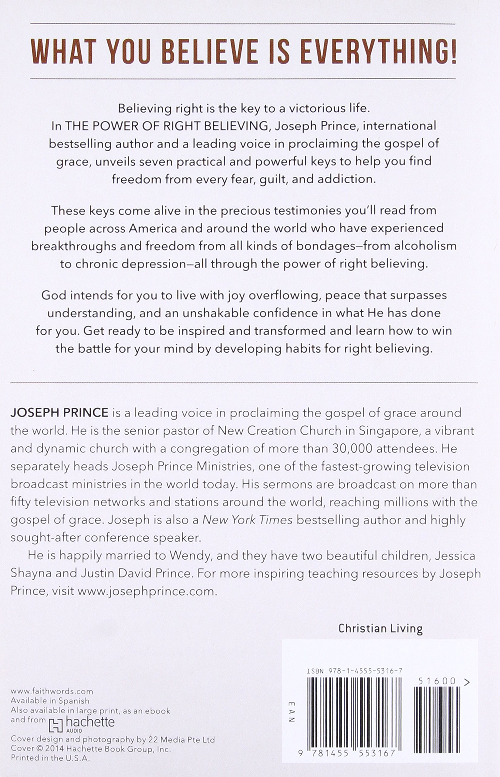 The power of right believing 7 keys to freedom from fear guilt the power of right believing 7 keys to freedom from fear guilt and addiction joseph prince 9781455553167 amazon books fandeluxe Choice Image