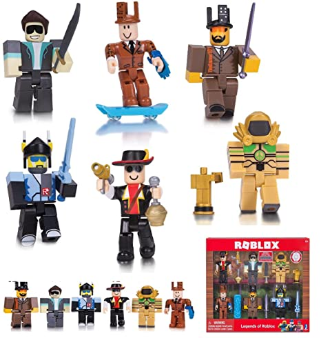 Roblox - LEGEND of ROBLOX 6 Pack Series 2 - This Set Includes 6 of the  Greatest Roblox Game Creators of all Time, Unique Accessories and an  Exclusive
