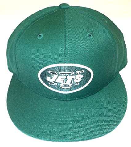 c84540d09 Image Unavailable. Image not available for. Color  Reebok New York Jets  Fitted Flat Bill Hat - Size 7 5 8 ...