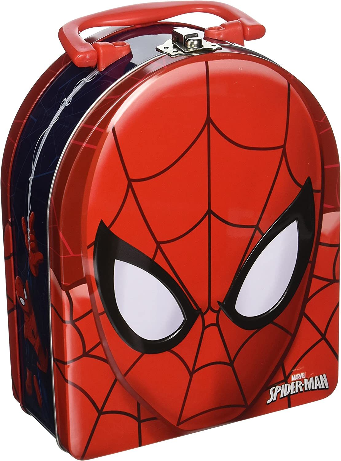 The Tin Box Company Spider-Man Head Shaped Tin Carry All with Handle