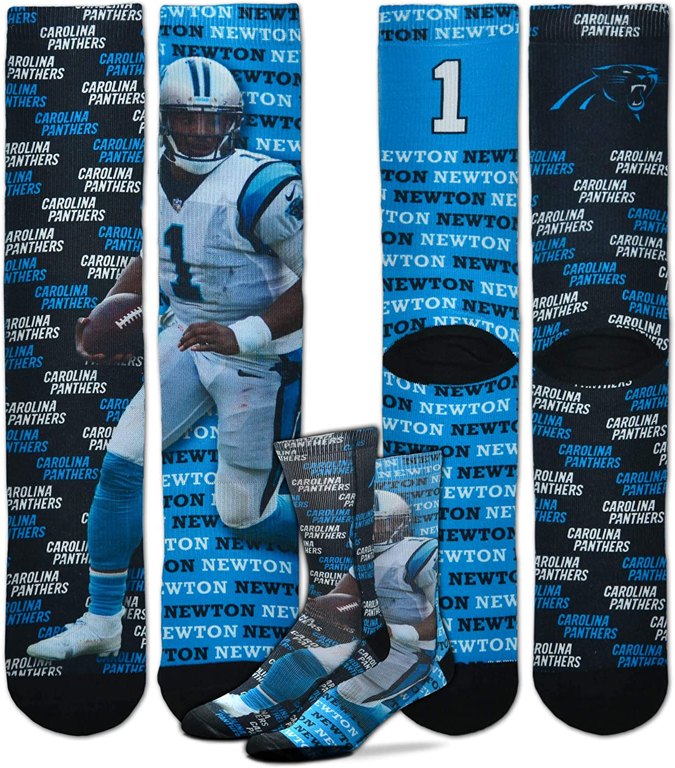 For Bare Feet Say My Name NFL Player Sublimation Mens Crew Socks