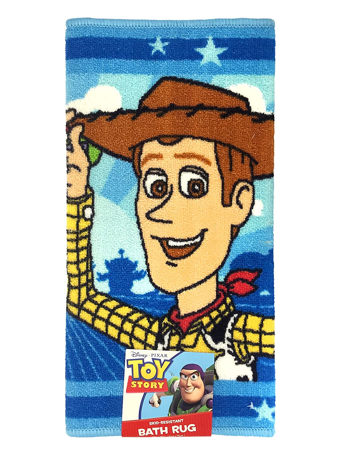 Disney Pixar Toy Story Buzz and Woody Tufted Bath Rug Jay Franco and Sons Inc JF00526KM