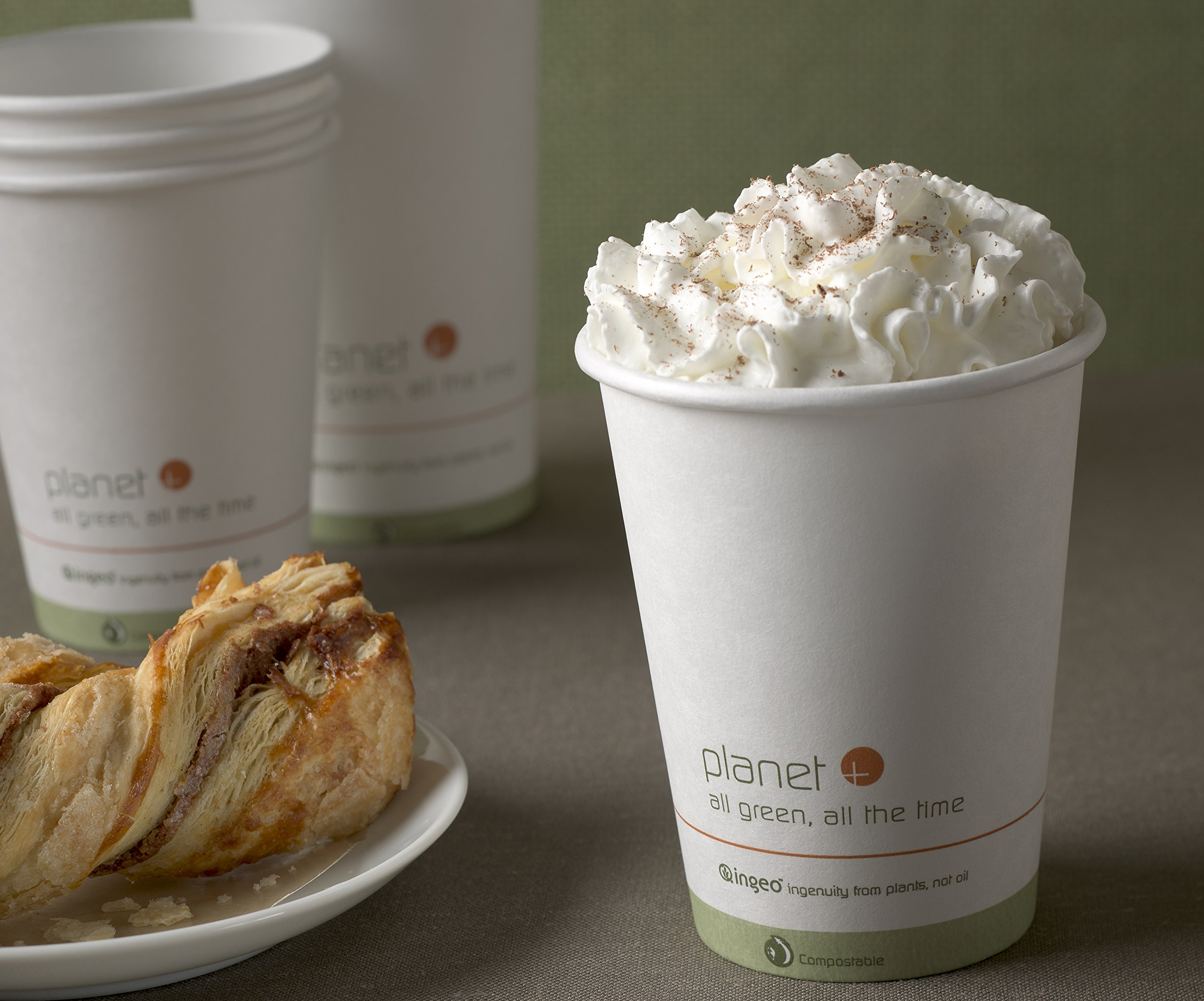 Planet + 100% Compostable PLA Laminated Hot Cup, 12-Ounce, 1000-Count Case by Stalkmarket (Image #2)