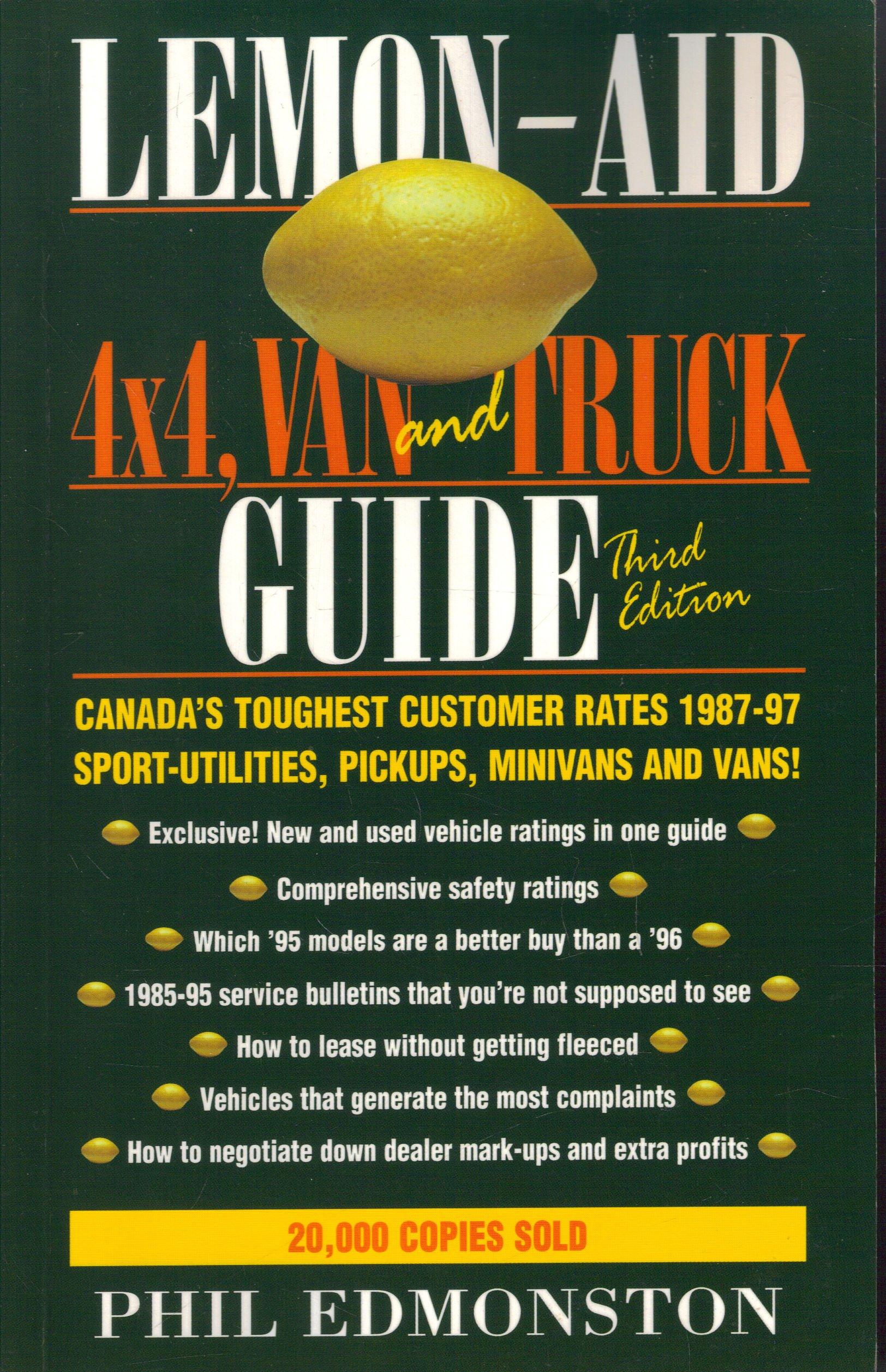 Lemon-Aid 4X4 Van and Truck Guide: Phil Edmonston: 9780773757998 ...
