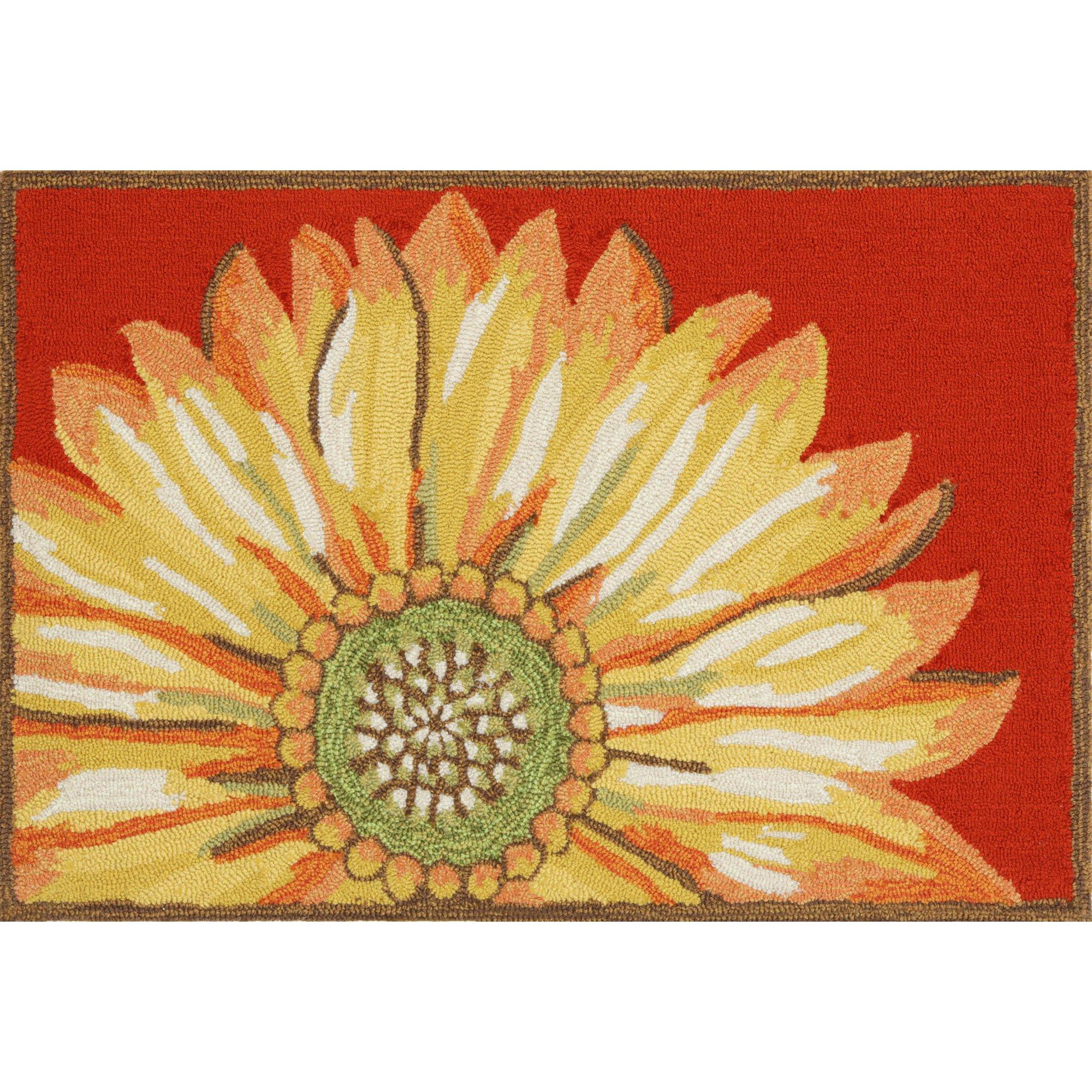 Liora Manne FT023A50224 Whimsy Summer Flower Rug, Indoor/Outdoor, Scatter Size, Red