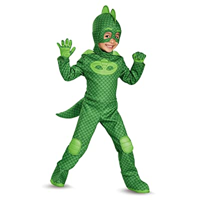 Gekko Deluxe Toddler PJ Masks Costume, Large/4-6: Disguise: Toys & Games