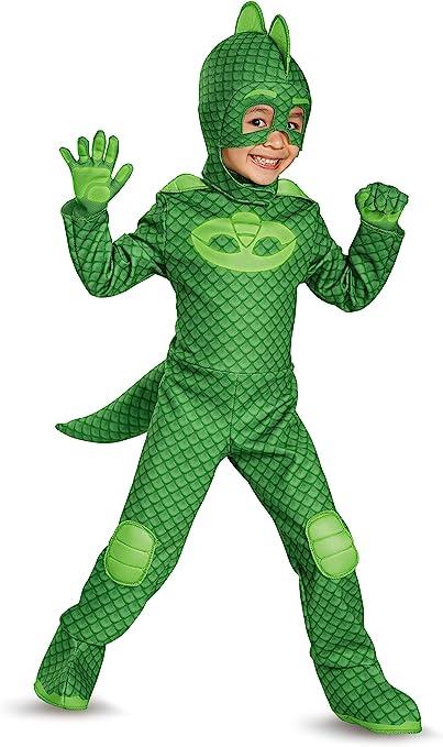 PJ Masques Gekko Deluxe Costume enfant - vert - S : Amazon.es ...