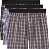 FIND Men's Check Woven Boxer Shorts